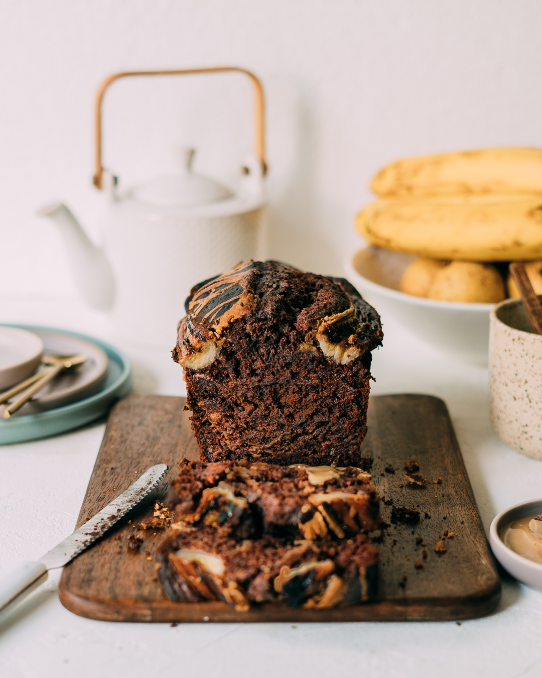 Chocolate PB Banana Bread