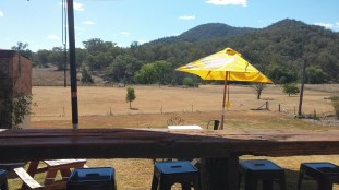 view from back porch at currabubula hotel