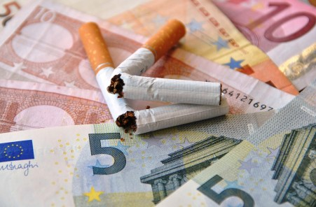 wasting money on cigarettes