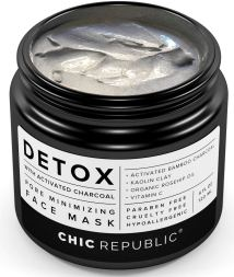 DETOX  men's organic Charcoal and clay mask