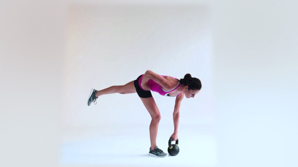 Single Leg Kettlebell Halo exercise