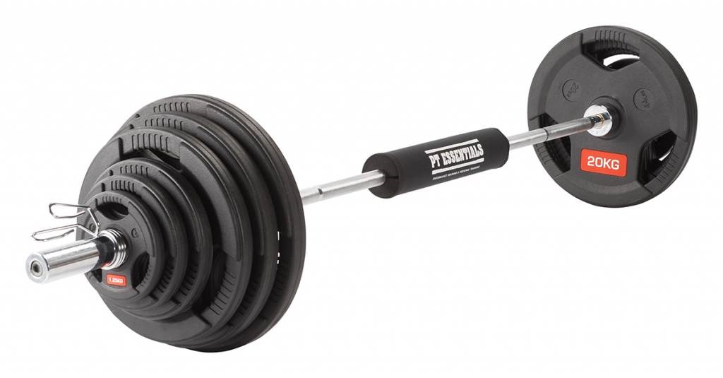 Olympic barbell and weight plates