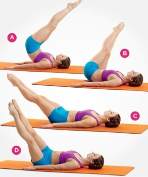woman doing double leg circles exercise for abdominal