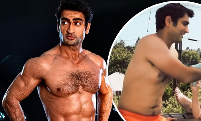 how did Kumail Nanjiani tranform his body