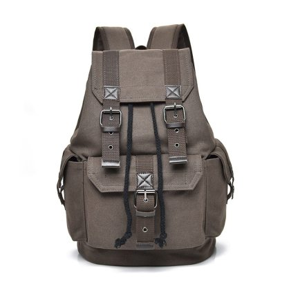 Men's Vintage Canvas Backpack For Travel and School