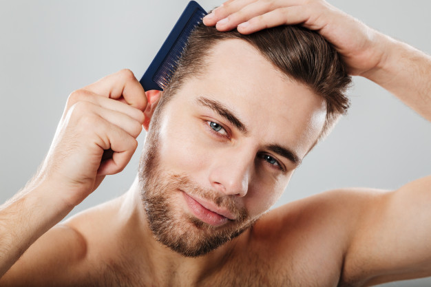 man comb his hair overstyle mistake hair care