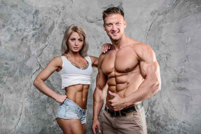 fit couple six pack abs