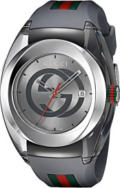 Gucci Swiss Quartz Stainless Steel and Rubber Casual Grey Men's Watch