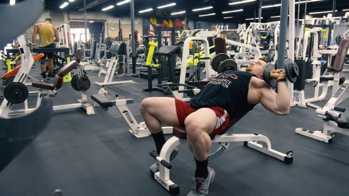 low incline dumbbell press chest exercise