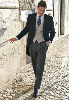 traditional morning 1920s stylish suit