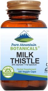 High Potency Milk Thistle -180 Kosher Vegan Capsules with 450mg Organic Milk Thistle Seed and Extract