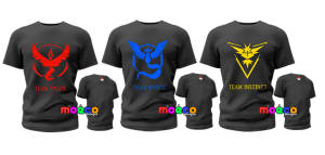 Pokemon GO launch Party Team t-shirts