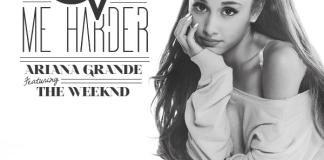 Ariana Grande Love Me Harder The Weeknd single cover art