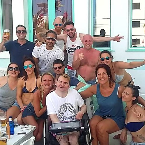 posse. gerald is a frequent visitor and regular at hotel es vive