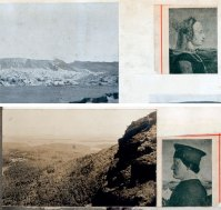 Pages from Ben Nicholson's scrapbook