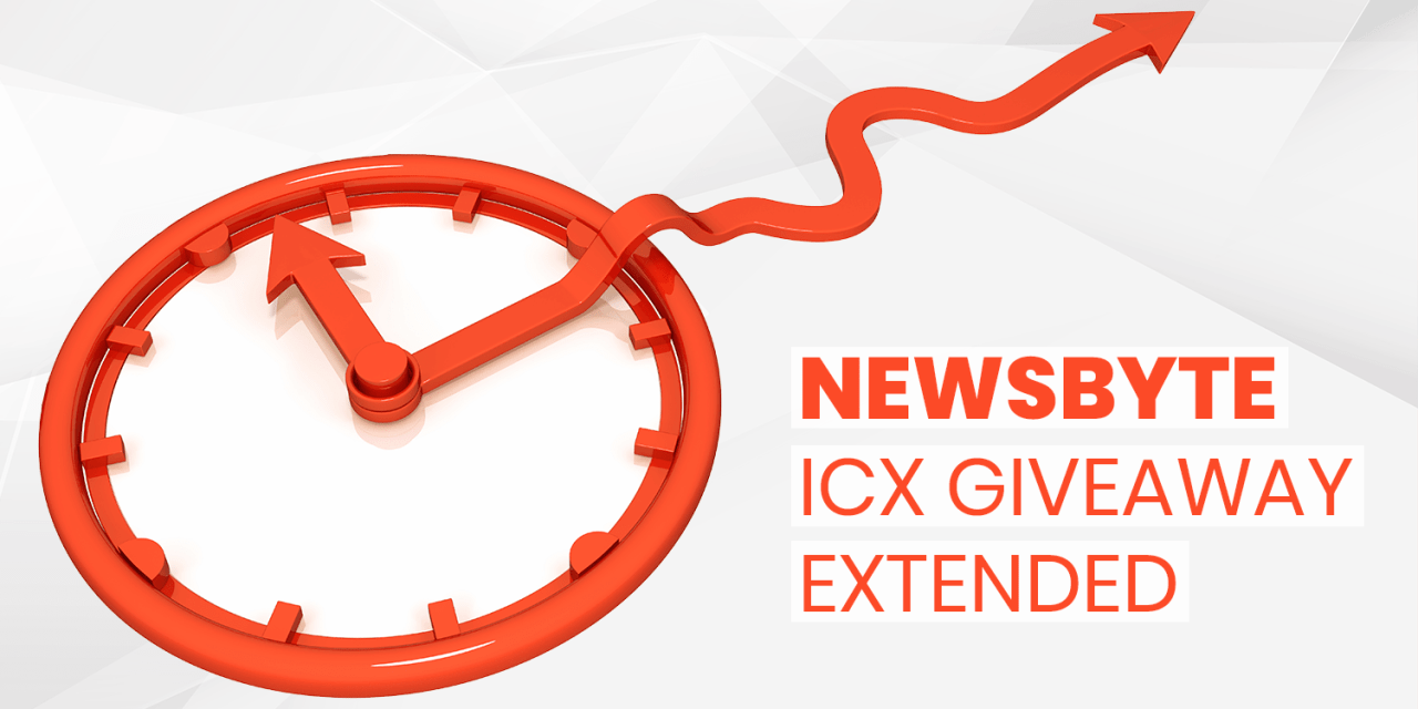 ICX Giveaway Extension Grants You an Extra Month to Earn Rewards