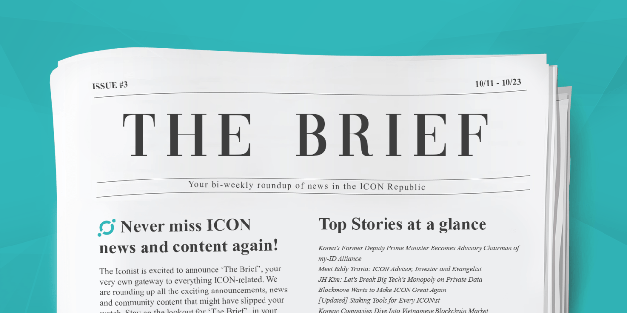 The Brief #3: my-ID Alliance and Decentralization Full Speed Ahead