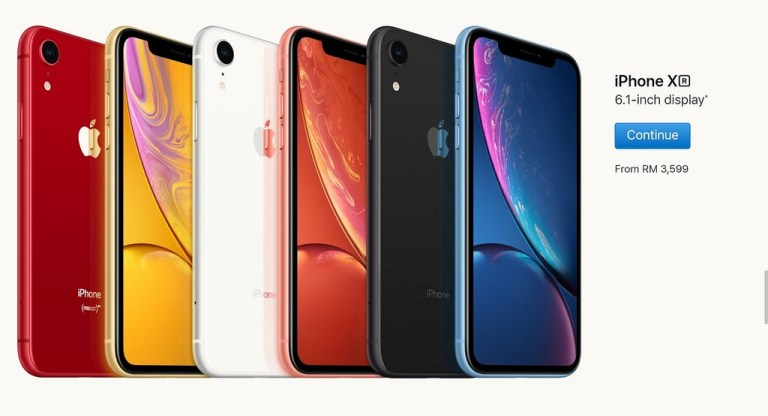 Official Price for Apple iPhone XR in Malaysia