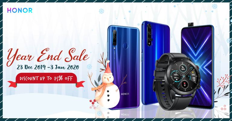 HONOR Year End Sales with Discounts up to 75% off