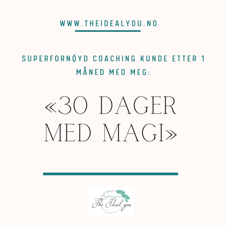 Silje Vassøy, tilbakemelding coaching fornøyd kunde
