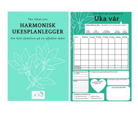 The ideal you, Silje E Vassøy, coaching. harmonisk ukesplanlegger