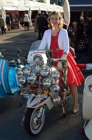 Me trying out a Lambretta for size