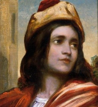 Frederic, Lord Leighton, Head of a Musician (c. 1853)