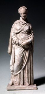A modest Tanagra figurine