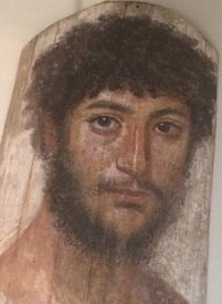 Portrait of a young man, mummy portrait from Fayum, 50-250 AD, Altes Museum, Berlin