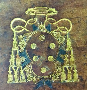 The coat of arms of Cardinal Gian Carlo de' Medici from the front cover of the Accademia degli Immobili album at the British Museum