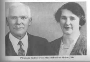 "William and Beatrice Southwell - source ""The Small Family in Australia 1788-1988"""