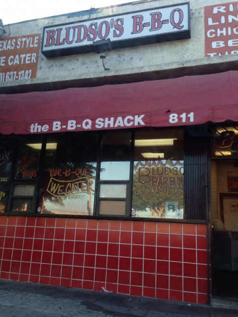 Bludso's BBQ in Compton - my friend brought me here. Bludso's was also voted the best BBQ spot in LA for Steve Harvey's Hoodie Award. It was good, but this location was out of a lot of stuff I wanted when I went - don't go late in the day!