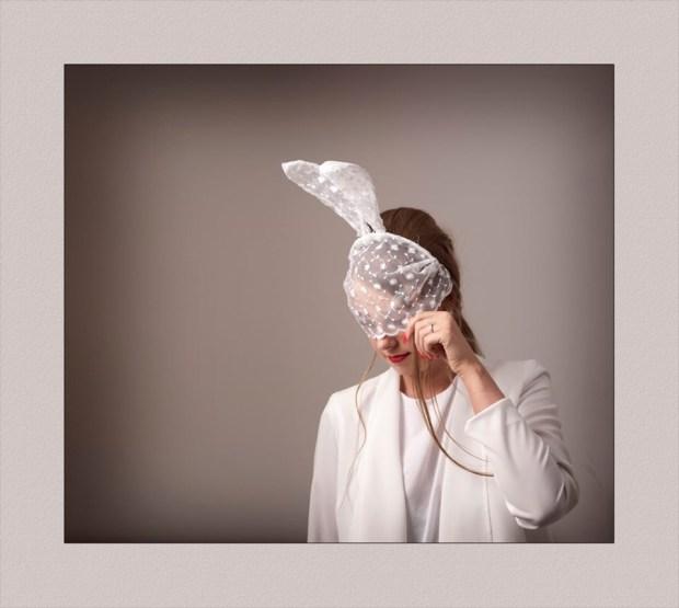 Photographers Glasgow Lace wedding veil with ears