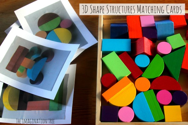 Shape Blocks Matching Picture Cards - The Imagination Tree