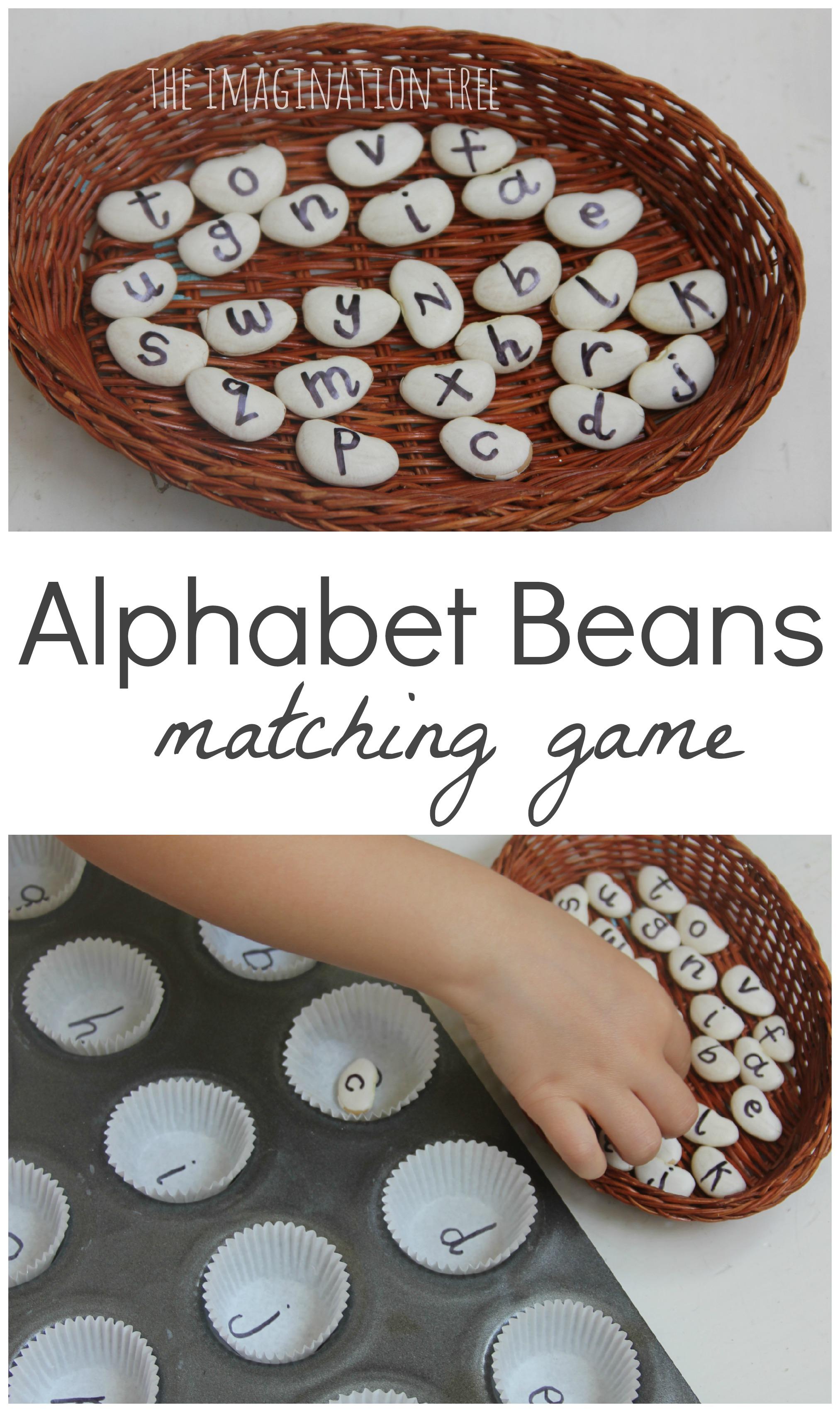 Matching Alphabet Beans Literacy Game