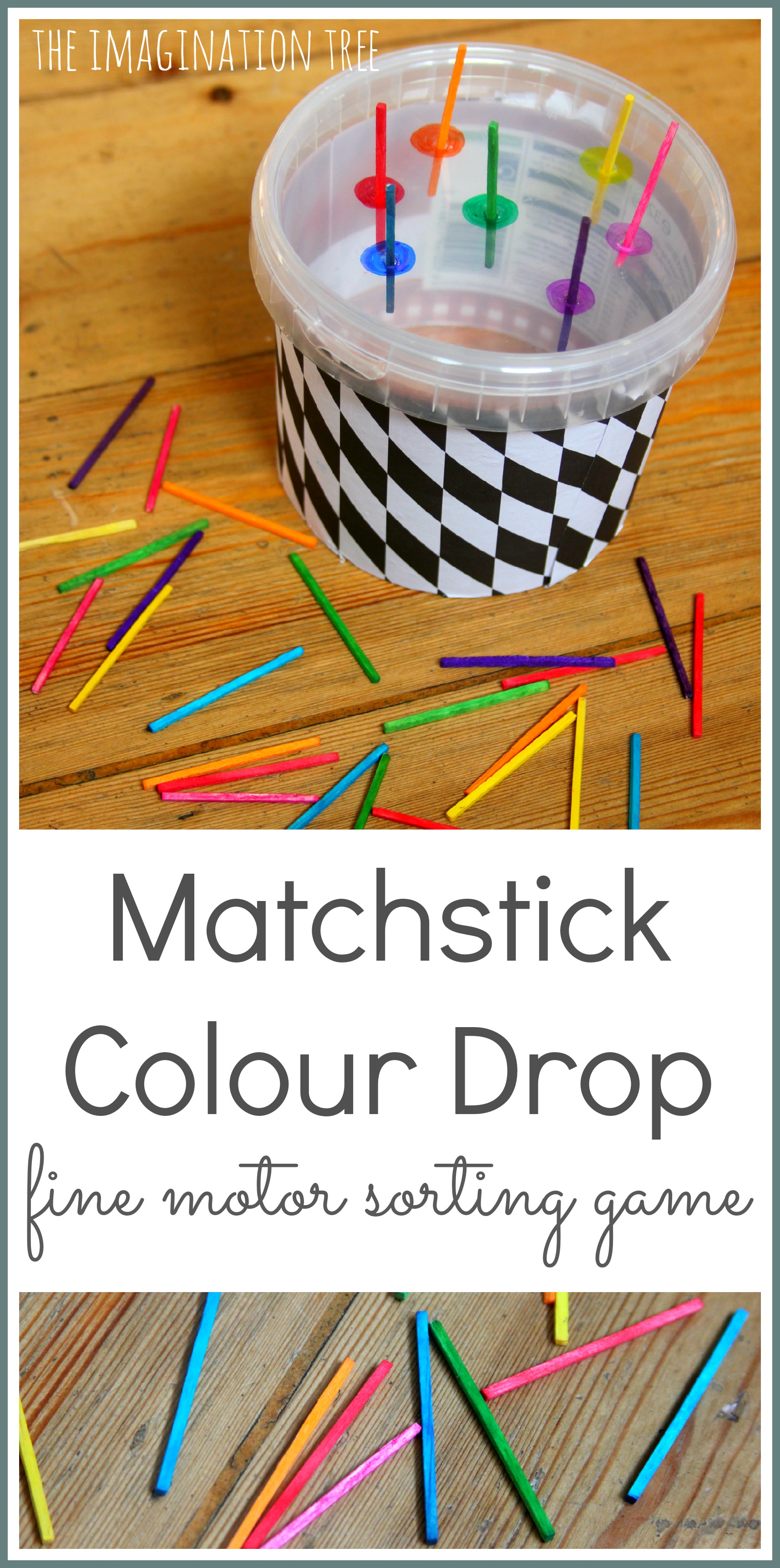 Matchstick Colour Sorting Fine Motor Toy