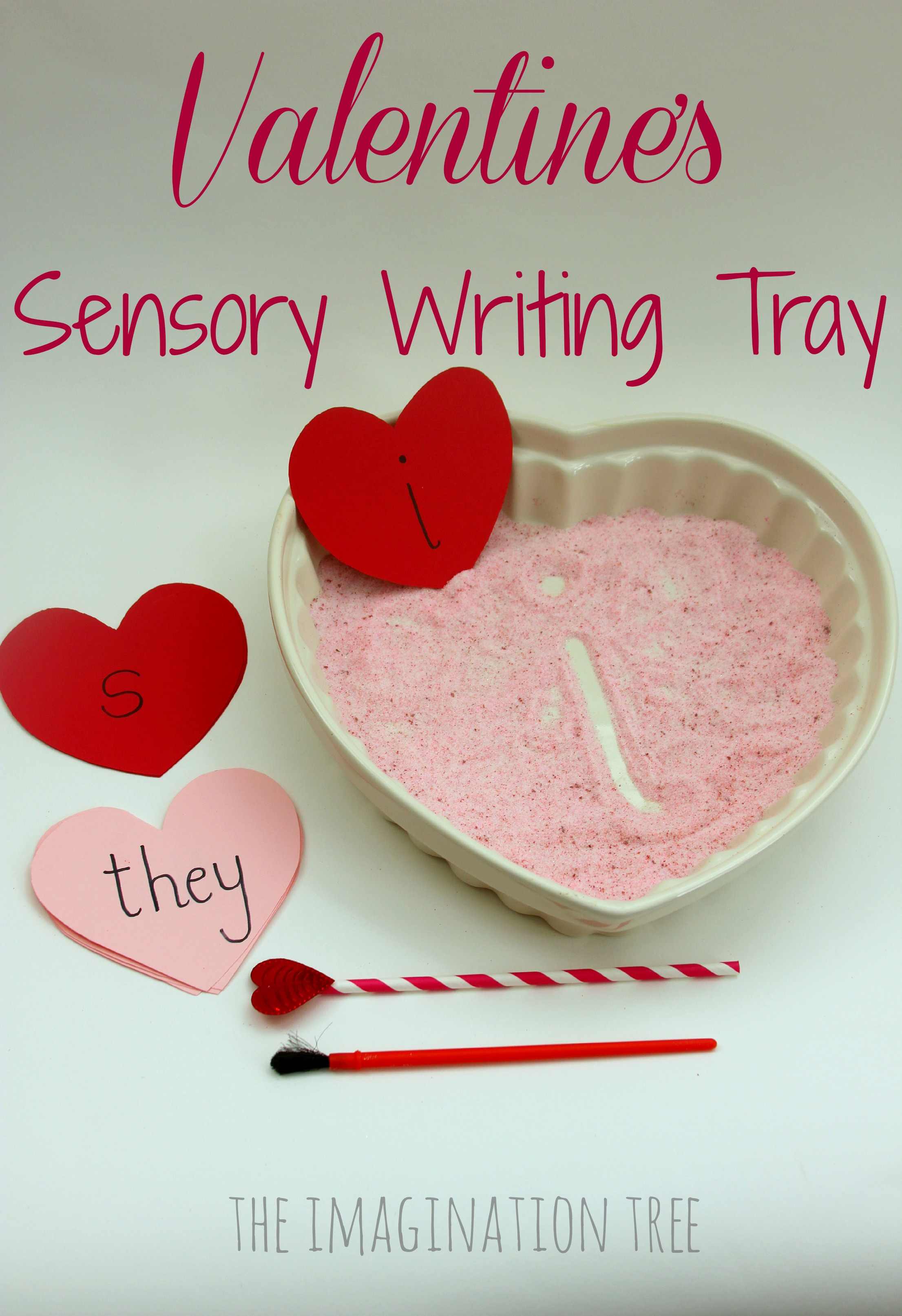 Valentine S Sensory Writing Tray