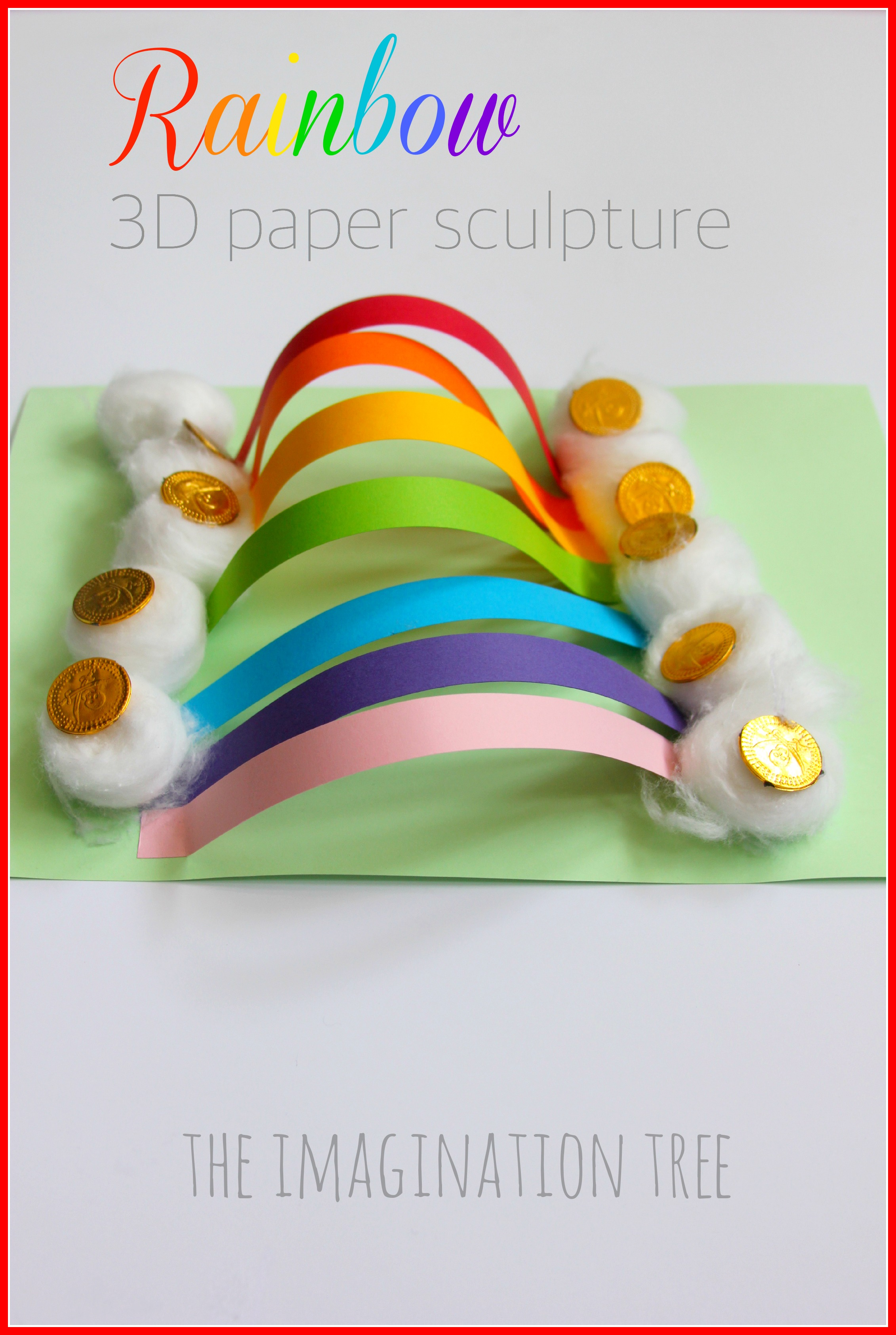 Rainbow Paper Sculpture Craft