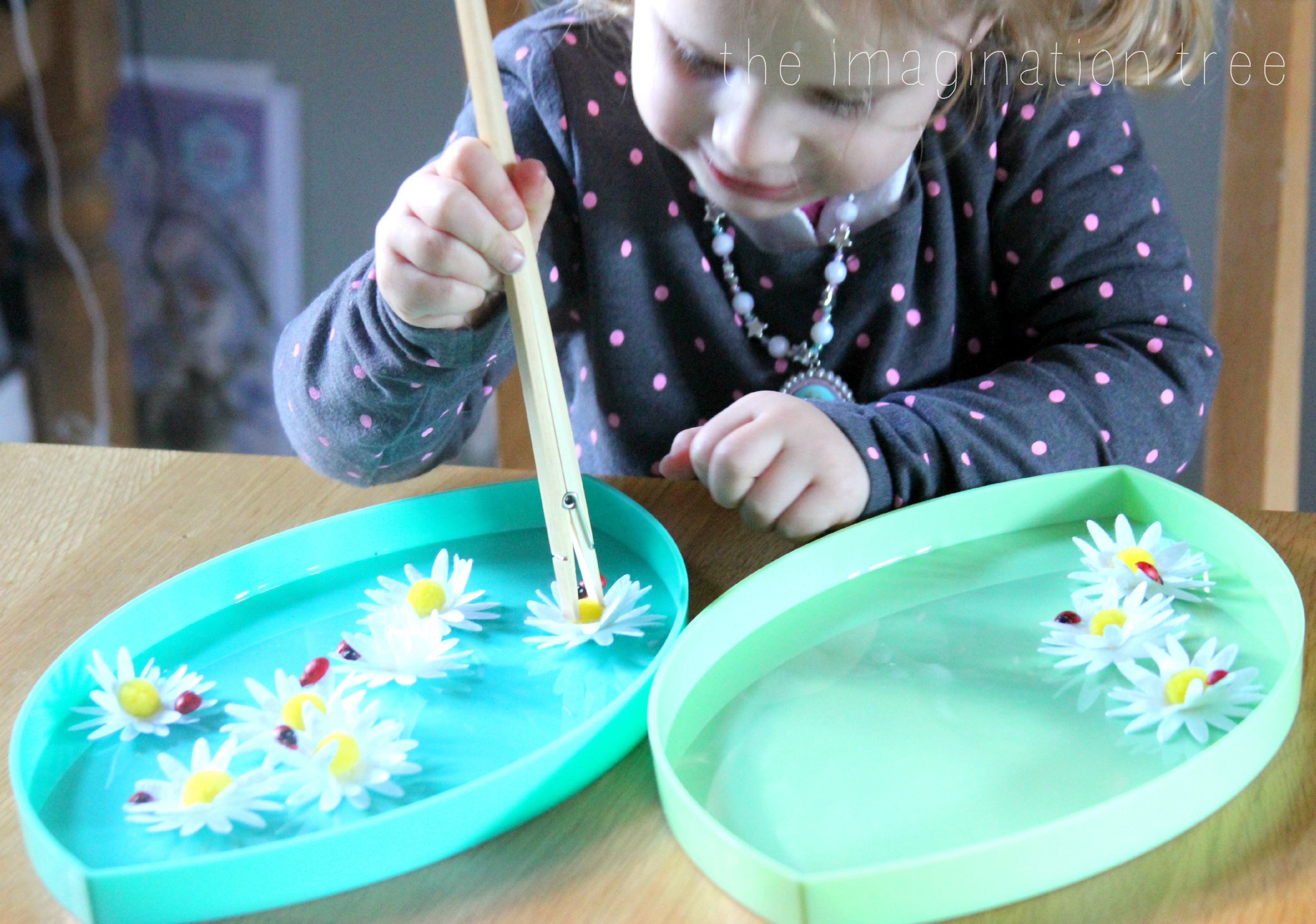 Counting Flowers Fine Motor Skills Activity
