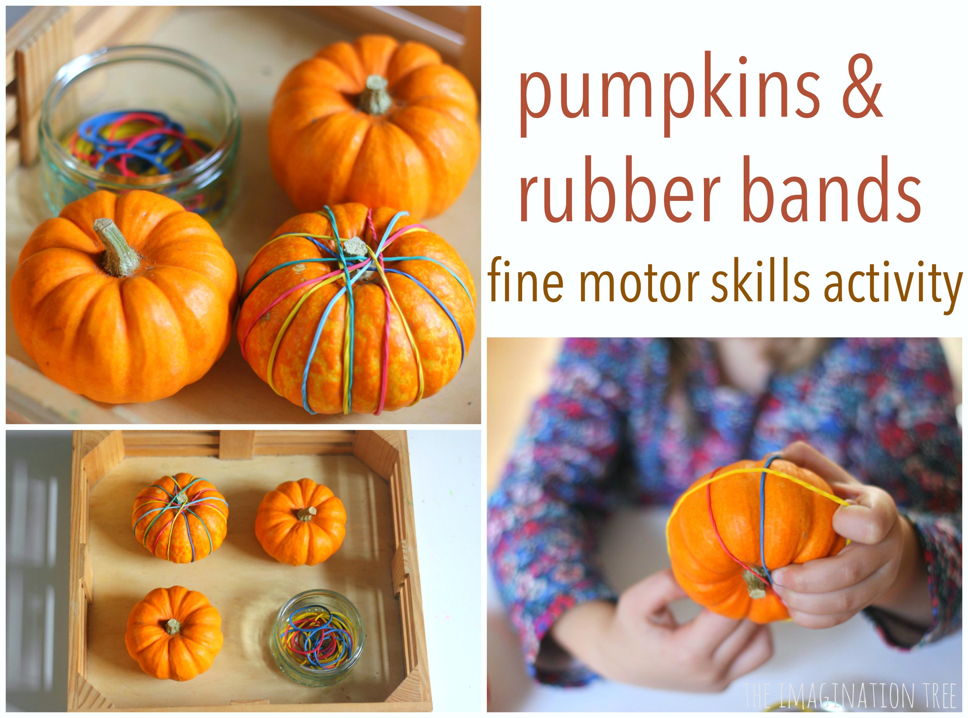 Pumpkin Fine Motor Skills Activity