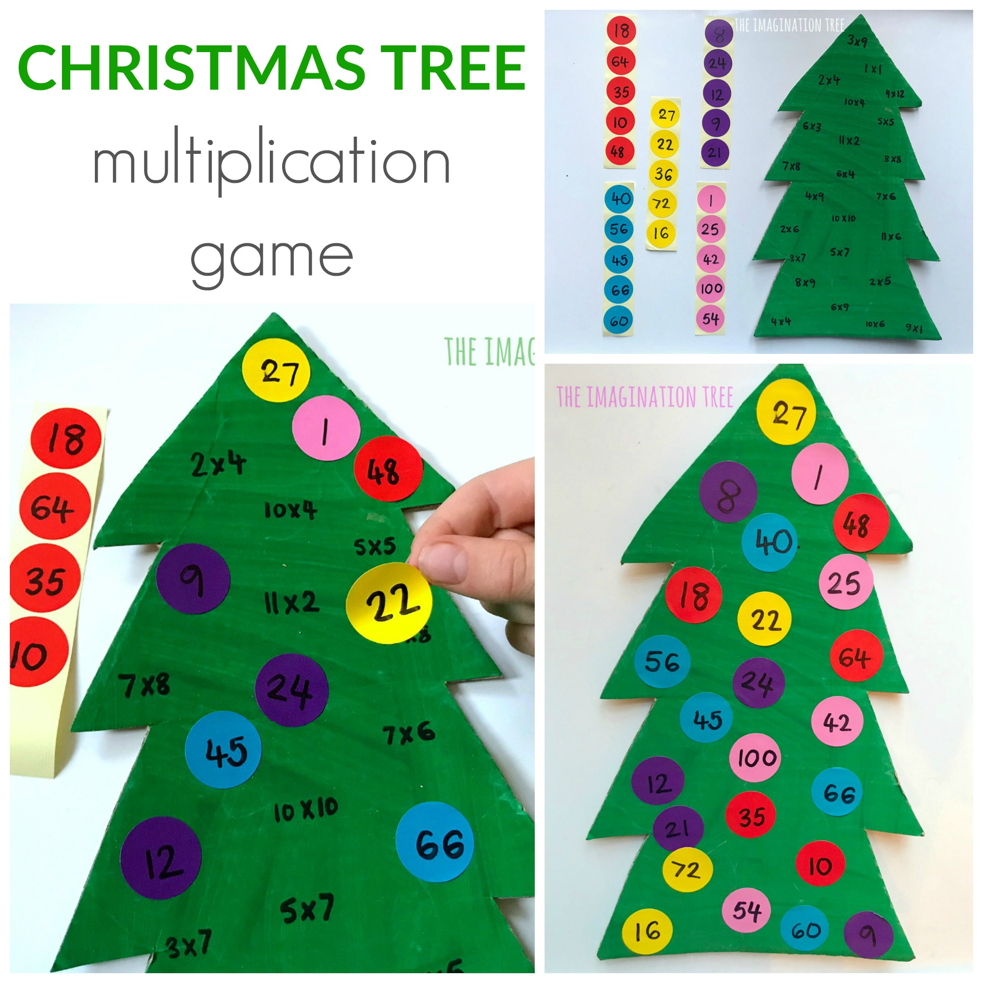 Christmas Tree Multiplication Game