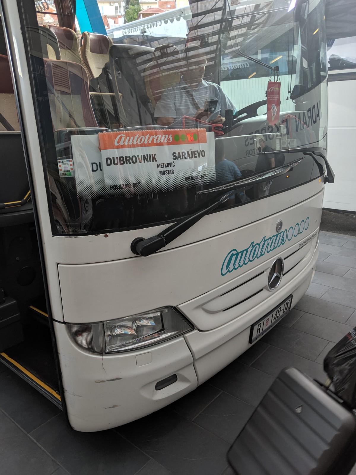 Bus Dubrovnik to Sarajevo
