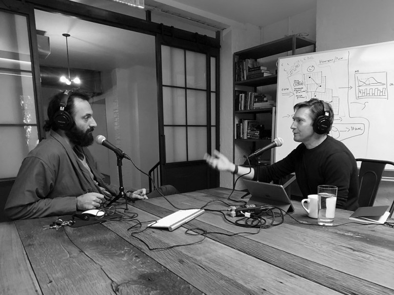 Michael Ventura and Mark Fallows interview for podcast The Impossible Network
