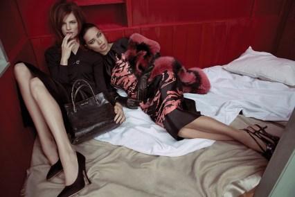 Bette Franke & Adriana Lima - Miu Miu Campaign, 2013