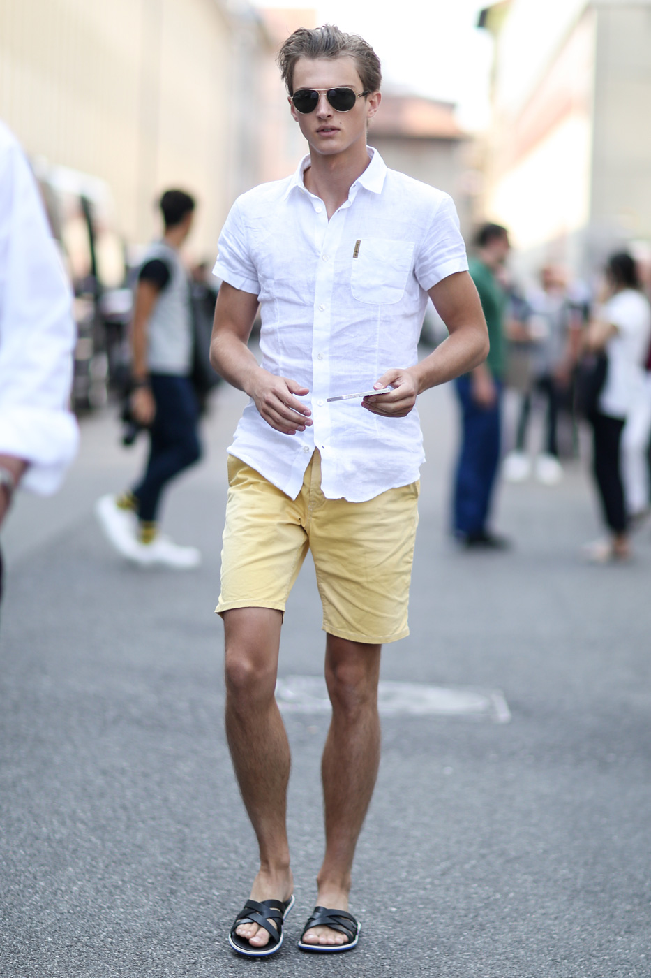 The best of street style from milan men 39 s spring 2015 for White shirt outfit mens
