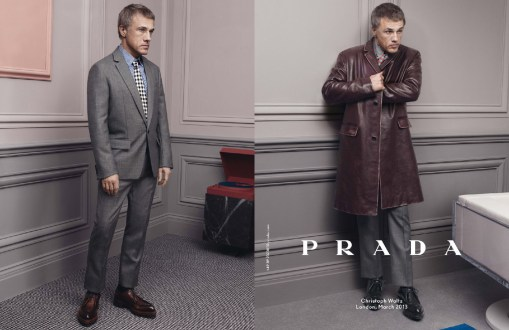 Prada Menswear Fall Winter Ad Campaign Christopher Waltz 2013