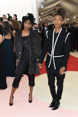 Willow in Chanel and Jaden Smith in Louis Vuitton