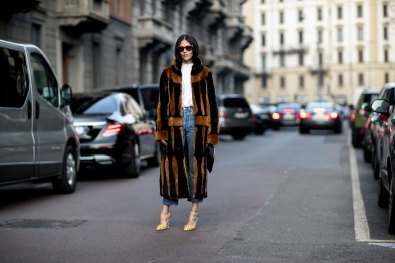 Milan Fashion Week Fall 2017 Street Style Day 1