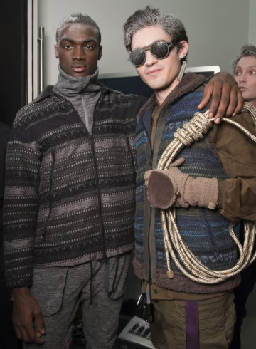 White Mountaineering Fall 2018 Men's Fashion Show Backstage