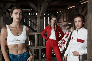 Calvin Klein stars Millie Bobby Brown & Paris Jackson with Lulu Tenney in Spring 2018 Ad Campaign